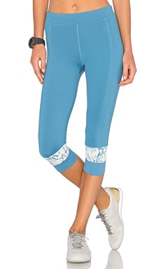 adidas by Stella McCartney Run 3/4 Capri Legging in Chino Blue