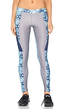 adidas by Stella McCartney Run Techfit Long Legging in Mystery & Oyster Blue