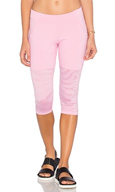 adidas by Stella McCartney Studio Zebra 3/4 Legging in Blush Pink