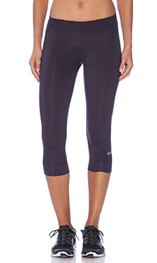 adidas by Stella McCartney 3/4 Perforated Studio Tights in Dark Space