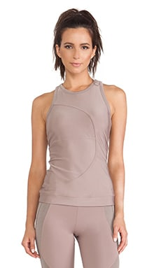 adidas by Stella McCartney Studio Perforated Tank in Natural Grey