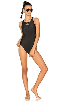 Performance Zip Swimsuit in Black