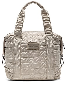adidas by Stella McCartney Small Bag in Shell Beige & Gun Metal