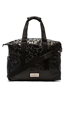 adidas by Stella McCartney Small Gym Bag in Black & Gun Metal