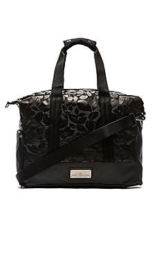 adidas by Stella McCartney Small Gym Bag in Black & Gun Metal