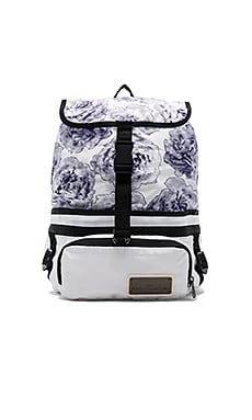 Run Convertible Bag in White Black & Cream