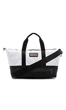 Gym Bag S in Black White & Gunmetal