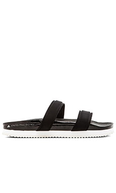 Slide Sandal in Black & Pearl Grey