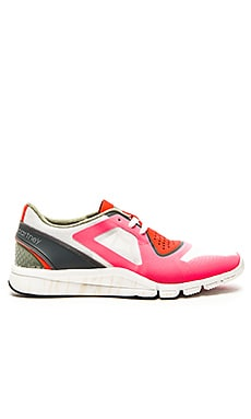 adidas by Stella McCartney Alayta Studio Shoe in Bold Orange & Granite & Sea Glass