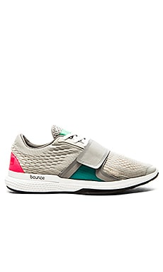 adidas by Stella McCartney Bounce Studio Shoe in White & Mint Beach