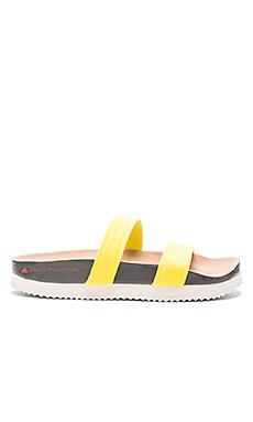 adidas by Stella McCartney Diadophis Sandal in Yellow Zest, Granite & Rose Tan