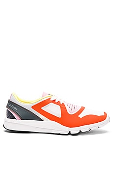 adidas by Stella McCartney Alayta Sneaker in Radiant Orange, Granite & Blush Pink