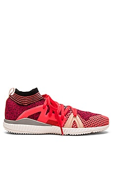 adidas by Stella McCartney Edge Trainer in Pink Passion & Turbo & Red