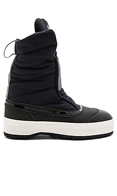 Wintersport Boot in Black White & Grey