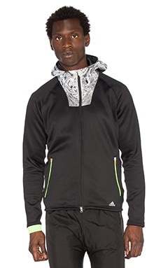 Adidas x KOLOR CLMHT Hoodie in Black & Solar Green
