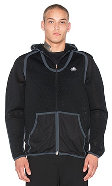 Adidas x KOLOR Spacer Hoodie in Black & Black & Night Grey