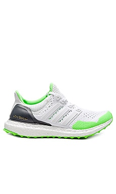 Adidas Ultra Boost KOLOR Sneaker in White & Solar Green & Gold