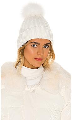 Fur Pom Pom Hat Adrienne Landau $50