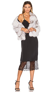Fox Fur Jacket in Natural
