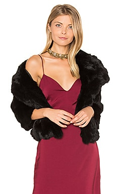 Rabbit Fur Jacket in Black