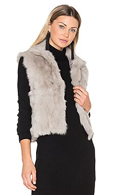 Rabbit Vest in Light Grey