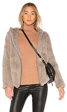 Knit Rabbit Hoodie Adrienne Landau $169