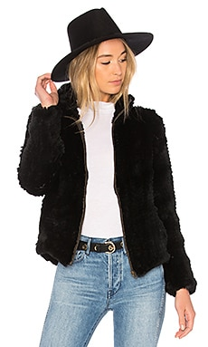 Knit Rabbit Zip Jacket Adrienne Landau $153