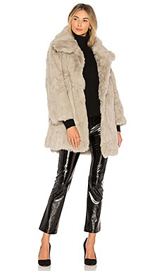 Textured Rabbit Fur Coat Adrienne Landau $221