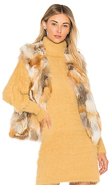Natural Fox Vest Adrienne Landau $313