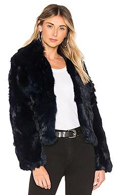 Fur Collar Rabbit Jacket Adrienne Landau $495