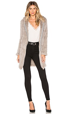 Knit Rabbit Long Hoodie Adrienne Landau $382