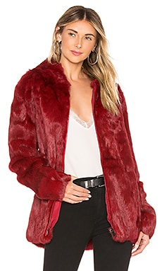 Rabbit Hooded Jacket Adrienne Landau $495