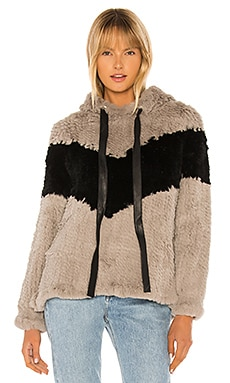 Knit Rabbit Fur Hoodie Adrienne Landau $126 (FINAL SALE)