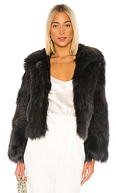 Fox Fur Jacket Adrienne Landau $537
