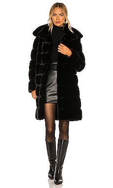 Faux Fur Long Coat Adrienne Landau $295