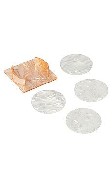 Round Acrylic Coaster Set AEYRE by Valet $125