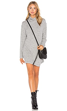 Dakota Dress in Heather Grey Cozy Fleece