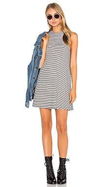 Slay Sleeveless Dress in Stripe Rib
