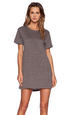 A Fine Line Everyday Tee Dress in Heather Grey