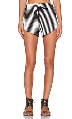 A Fine Line White Heat Short in Black & White Stripe
