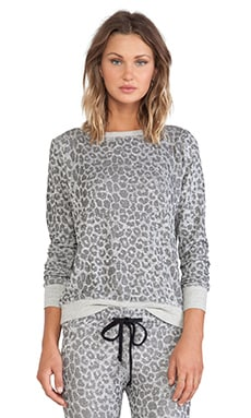 A Fine Line Wolf Sweatshirt in Cheetah Grey