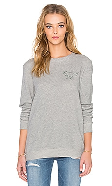 A Fine Line Ex Boyfriend Dino Sweatshirt in Heather Grey