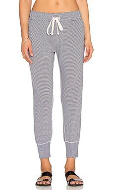A Fine Line Varsity Pant in Baby Stripe Jersey