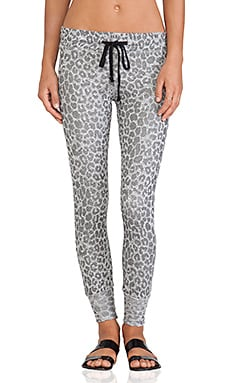 A Fine Line Kelly Skinny Sweatpants in Cheetah Grey