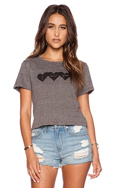 A Fine Line Brothers I Hate You Cropped Tee in Heather Grey