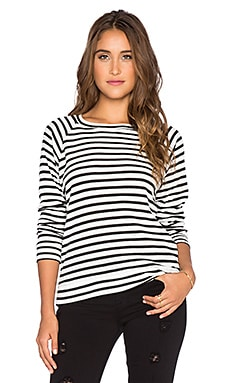 A Fine Line Mona Top in Stripe Rib