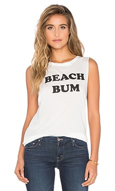Abby Beach Bum Tank in White