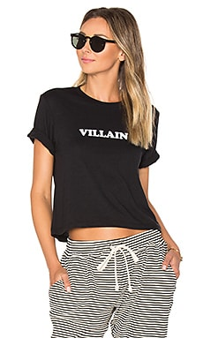Villain Brothers Crop Tee in Black
