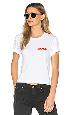 Boss Brothers Crop Tee in White