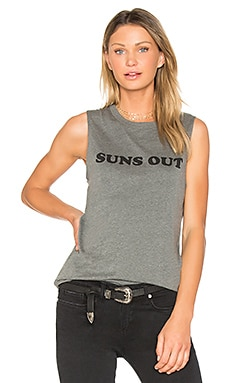 Suns Out Buns Out Abby Tank in Heather Grey